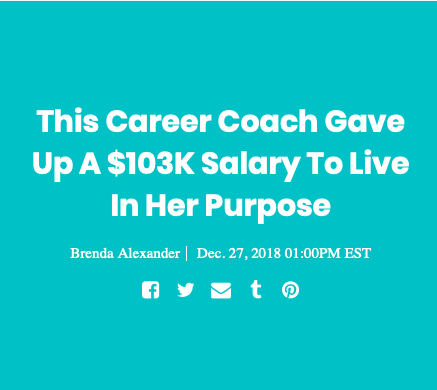 Why did I give up a six-figure job to live in my purpose?!